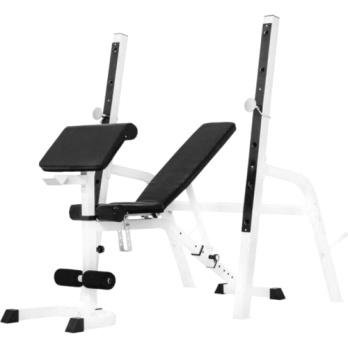 Træningsbænk + Curl Pult + Squat rack